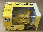 New Spec Cast Cust-1432 116 Caterpillar D4 Tractor With Bulldozer And Winch
