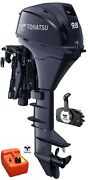 Tohatsu 9.8hp Short Shaft 4-stroke Electric Start Power Tilt Outboard And Remotes