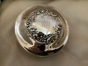Antique Sterling Silver Jewelry Box Fitted Interior Fitted Ring Slots