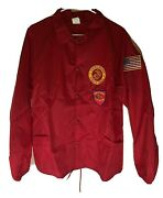 Vintage United States Marine Corps Soffe Nylon Jacket With 18 Patches - Size L
