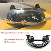 180 Motorcycle Rearview Mirrors Windscreen Degree Blind Spot Mirror Wide Angle