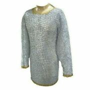 Medieval Armor Aluminum Chain Mail Flat Riveted And Ring Chainmail Costumes Larp
