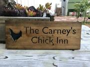 Personalized Chicken Coop Wood Sign Barn Engraved Sign
