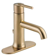 Delta Trinsic Single Hole Singlehandle Bathroom Faucet With Metal Drain Assembly