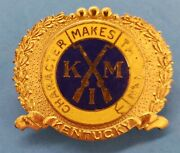 Vintage K M I Kentucky Military Institute Pin Character Makes The Man