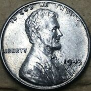 1943 -p Uncirculated Steel Lincoln Wheat Penny. Uncirculated Cent