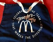 1990 Mcdonaldand039s Founders Day Blue Apron Celebrating Team That Makes Difference