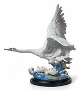 Lladro Porcelain Retired 01001905 Majestic Swan Sculpture Limited Ed New 1905
