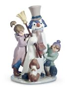 Lladro Retired Porcelain 01005713 The Snow Man Figurine New In Box 5713