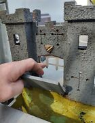 Vintage Toy Wooden Castle Fort 1920and039s To 1950and039s Superb Antique Mancave