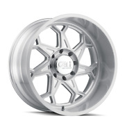 20 Inch 8x170 Wheels 4 Rims Brushed Clear Gloss -25mm Cali Off-road Sevenfold