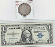 1879-p 1 Morgan Silver Dollar And 1957 1 Silver Certificate Note Lot Of 1 Each