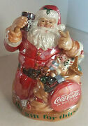 Coca-cola Santa Claus The Gift For Thirst Cookie Jar - Very Nice