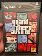 Grand Theft Auto Iii 3 Playstation 2 Ps2 New Sealed 1st Print Rare
