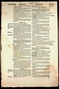 1549 Tyndale Bible Leaf Sit At My Right Hand Psalm 10926-11516- H74 John Day
