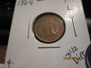 1864-l Indian Head Cent Mint State +++++ 3 1/2 Diamonds Showing