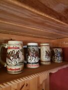 Budweiser Holiday Stein Lot 1980 To 2017