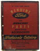 Genuine Ford And Mercury Parts Wholesale Catalog 1938 - 1946 Cars And Trucks Vintage