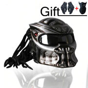Top Predator Motorcycle Helmet Red Fire Motive Dot And Ece Approved Full Face