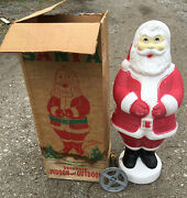 Empire Blowmold Santa Claus 32and039and039 Vintage Christmas Yard Lawn Plastic 33 31