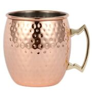 50xounces Hammered Copper Plated Moscow Mule Mug Beer Cup Coffee Cup Mug Copper