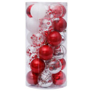 50x30pcs Christmas Decorations For Home Christmas Tree Pendant Ornaments Red