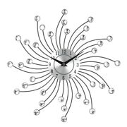 50x3d Large Wall Clock Metal Crystal Modern Home Decoration Silent Clocks For