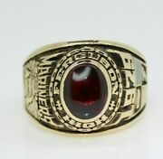 Authentic Vintage 10k Yellow Gold Red 1979 College Class Ring Size Z +1, Us 13