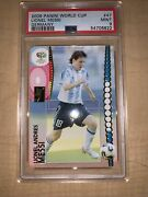 2006 Panini Germany World Cup 47 Lionel Messi First Wc Argentina Fresh Psa 9