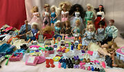 Huge Lot Of Vintage Barbie Ken And Friends , Clothes, Accessories 1960's