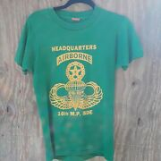 Rare Vtg 70s 80s Us Army Airborne 16th Mp Group Military Police Tshirt Usa M