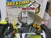 Vintage Tyco Race And Chase And Double Loop Nite-glow Racing Track Set T6061