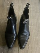 Rm Williams Craftsman Black Full Leather Chelsea Ankle Dress Casual Boot 8.5-9 M