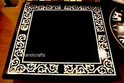36 Inches Marble Island Table Top Hand Made Stone Work Dining Table Home Decor
