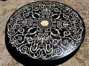 48 Inch Marble Inlay Patio Table Top Luxurious Dining Table With Mother Of Pearl
