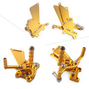Foot Pegs Footpeg Footrest Pedal Adjustable Fit 2006-2010 Yamaha Yzf R6 Gold