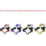 1pair 7/8and039and039 22mm Motorcycle Master Cylinder Hydraulic Brake Pump Clutch Lever