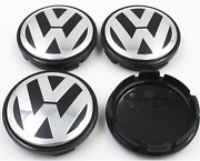 4xvolkswagen Vw 65mm Outer Used Golf Alloy Wheel Centre Caps