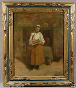 19th Century Woman Oil Painting Signed Edwin Murray Mackay American 1869-1926