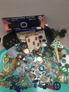 Vintage Costume Jewelry Pins Old Buckle Button Junk Drawer Wholesale Lot 100