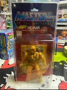 Masters Of The Universe He-man 1982 Moc 12 Back With Protector Case