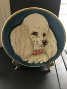 Vintage 1973 Veneto Flair Dog Series The Poodle Plate Tiziano 161 Italy Etched