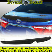 For 2015 2016 2017 Toyota Camry Matte Black Factory Style Lip Spoiler