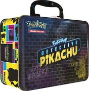 Pokemon Detective Pikachu Collectors Chest Lunch Box 9 Booster Packs Tin