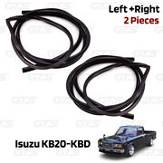 Pair Door Rubber Seal Weatherstrip For Isuzu/chevrolet Luv Kb20 Kbd 1972 1980