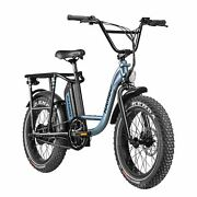 Rambo The Rooster 750w 20 Fat Tire E-bike With Thumb Throttle- New 2021