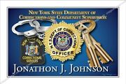 Police,new York,city,state,corrections,prisons,department,retirement,badge,gift