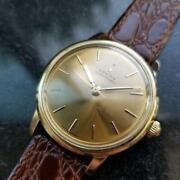 Mens Zenith 35mm 18k Solid Gold 1960s Automatic Dress Watch Vintage Lv851