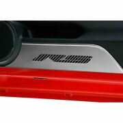 Stainless Door Panel Kick Plates W/bright Red Vinyl Rs Inlay For 10-15 Camaro