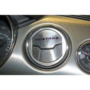 Brushed A/c Vent Trim W/orange Carbon Fiber And039mustangand039 Inlay For 15 Mustang 50th